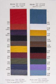 coarse & pure Linen notebook cover colour options