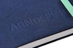 embossed linen notebook