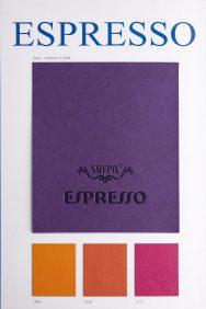 Espresso leather look pu