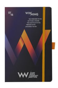 full colour process on rigid paper over board cover