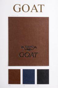 goat leather look pu - light pattern