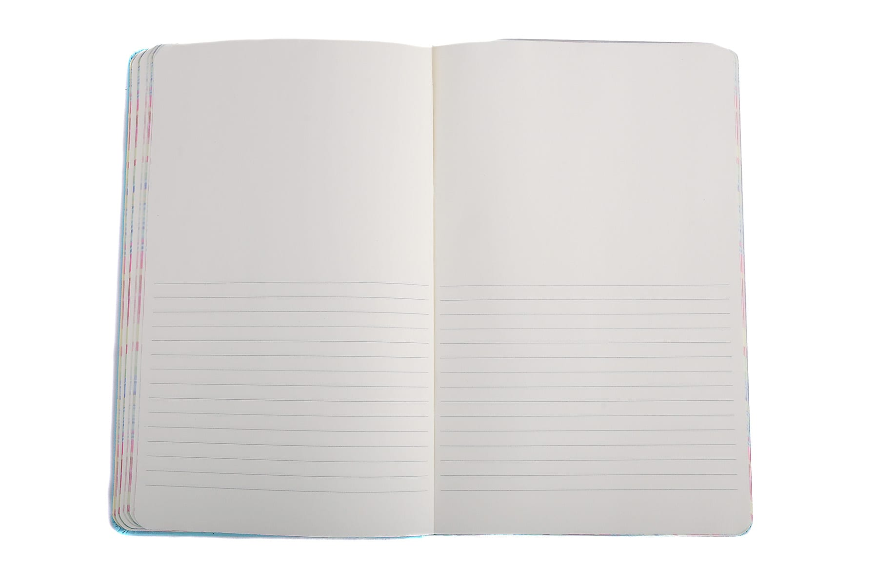 Half lined half plain page
