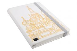 Heat change white PU cover with embossed logo and metal stud
