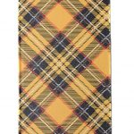 printed linen fabric with tartan design