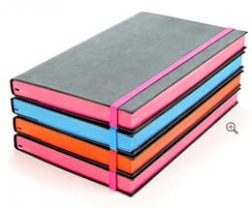 recycled leather notebook colours
