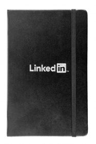 Silver Foil logo on leatherette notebook cover