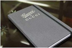 sophisticated gucci notebook look