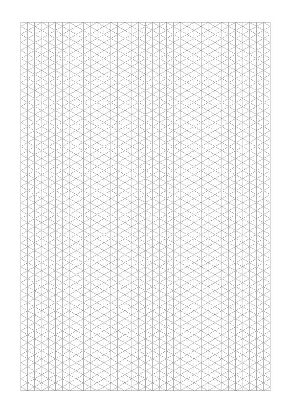 Isometric lined grid for A4 Note books