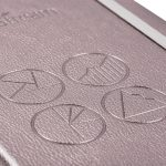 metallic silver pu cover embossing