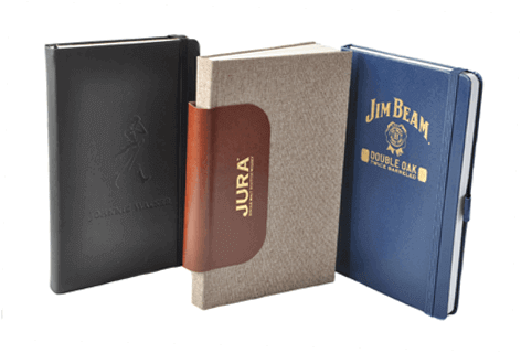set of 3 A5 notebooks for whisky companies