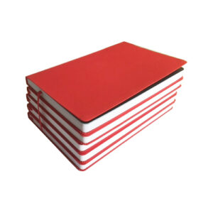 pack of 5 eco flexible notebook red