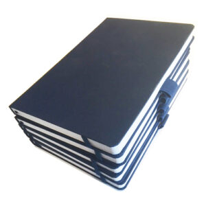 pack of 5 eco notebooks navy